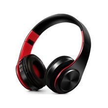 หูฟังสเตอริโอไฮไฟสเตอริโอหูฟังบลูทูธหูฟังเพลงชุดหูฟัง FM และ SD card พร้อม mic สำหรับโทรศัพท์มือถือ xiaomi iphone sumsamg แท็บเล็ต