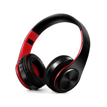 HIFI stereo font b earphones b font bluetooth headphone music headset FM and support SD card