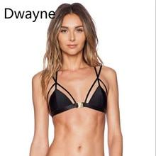 c00de3ae83 Dwayne Sexy Women Criss Cross Bralette Black Seamless Unlined Front Closure  Bra