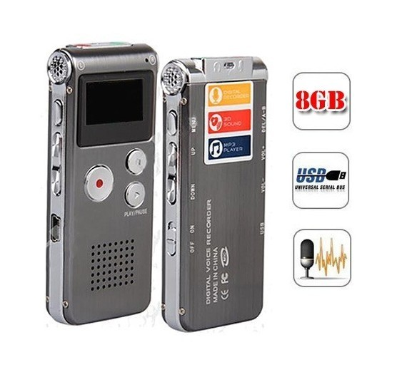 SK-012 8 GB Spion Mini Usb Digital Audio Voice Recorder Diktiergerät Mp3-player Grau Stick Grabadora Gravador de voz
