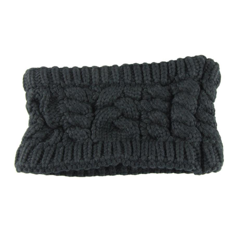 Fashion Unisex Women Autumn Winter Headwear Head Wraps Crochet Twist Flower Elastic Hair Accessories