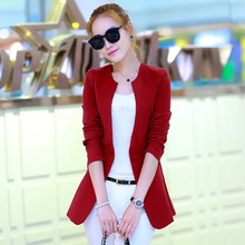 Hanorange весна осень женщина случайные костюм ol одной кнопки тонкий женщины blazer куртка черного/orange/роза/вино красный/зеленый/синий/верблюд(China (Mainland))