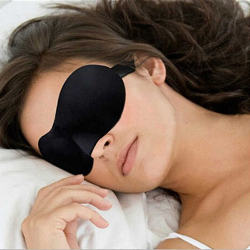 bb4a29d4ea9 Black 1PC 3D Soft Travel Sleeping Eye Masks Rest Aid Eye Mask Cover Eye  Patch Mask