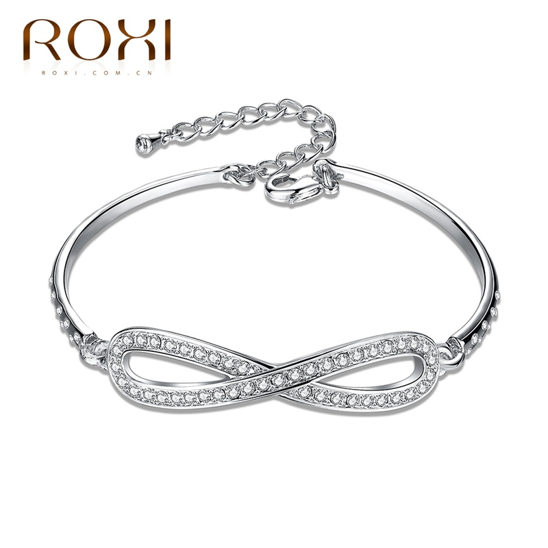 ROXI Bracelet Trendy Chain Color Simple Design Zircon