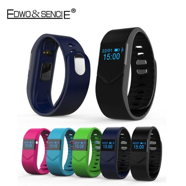 EDWO M5 Bluetooth Smart Wristband Bracelet Blood Pressure Heart Rate Pedometer Waterproof Smartband For iOS Android PK Mi Band