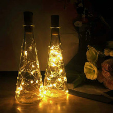christmas 0.75m1M 2M LED Copper Wire String Light with Bottle Stopper for Glass Craft Bottle Valentines Wedding Decoration light