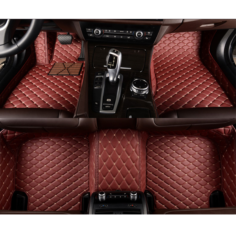 Custom car floor mats for Volkswagen All Models vw passat b5 6 polo golf tiguan jetta touran touareg car-styling auto floor mats rcd330 plus mib ui radio for golf 5 6 jetta cc tiguan passat polo