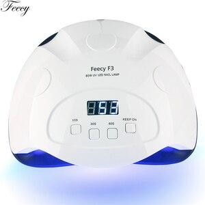 Image 3 - 매니큐어에 대 한 UV LED 네일 램프 80W LED 네일 건조기 젤 광택에 대 한 UV 램프 42 LED 램프 네일 매니큐어 기계에 대 한 모든 Feecy F3