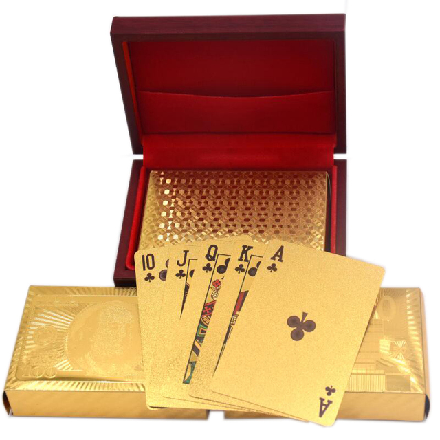 GOLD FOIL PLAYING CARDS + CERTIFICATE OF AUTHENTICITY