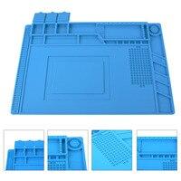 45x30cm Heat Resistant Insulation Desk Mat Silicone Heat Gun BGA Soldering Station Pad Repair Maintenance Platform