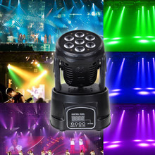 DMX-512 MINI LED 7x10W LED party Licht RGBW 9/14CH DMX Bühne Lichter Dj LED Spinne moving Head Strahl Licht sound party lichter(China)