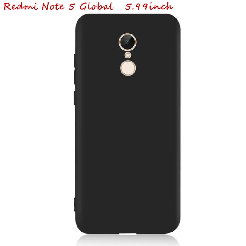 Caso Para Xiaomi Redmi Nota 5 64 GB 32 GB 5 mais cor Matte Silicone soft shell Capa Note5 Edição Global de 5.99 polegadas Snapdragon625