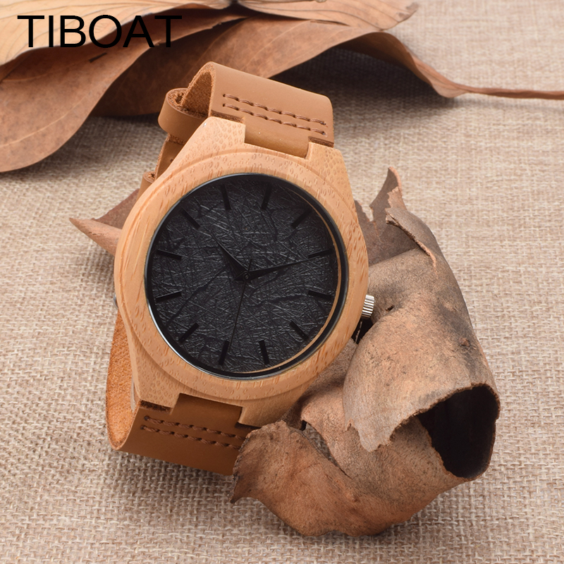 2017 New TIBOAT Luxury Brand Quartz Watches Men analog Wood Clock Men Sports Military Leather Strap Fashion Wrist Watch  2016 new weide luxury brand quartz watches men dual time oversize clock men sports military leather strap fashion wrist watch