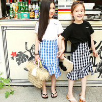 Mother and Daughter Clothes Outfits Mom and Daughter Dress 2Pcs Set Family Look Girls Baby Kids Children Clothing Suit CC971