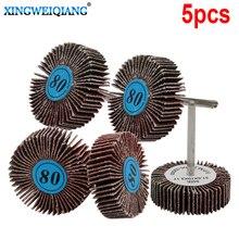 5pcs Grit Grinding Sanding Sandpaper Flap Wheel Discs For Rotary Tool Shutter Polishing Wheel For Dremel Tools