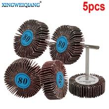 Discos de rueda de lija de arena moler, herramienta rotativa, rueda de pulido para herramientas Dremel, 5 uds.