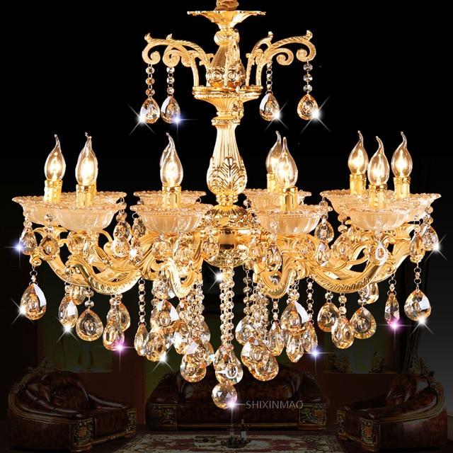 Shixnimao БЕСПЛАТНАЯ ДОСТАВКА DELUXE меднение золото тело водить кристалл Роскошные хрустальные люстры Мода Хрустальная люстра