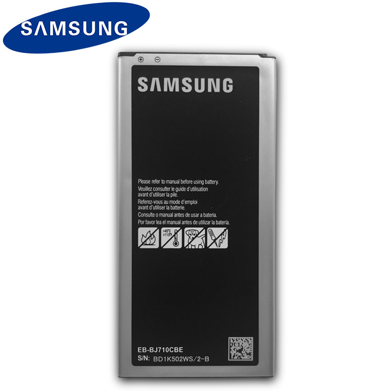 US $12 8 39% OFF Samsung Original Replacement Battery For Galaxy J7 2016  Edition J710 J710F J7108 J7109 EB BJ710CBE 3300mAh Mobile Phone Battery-in