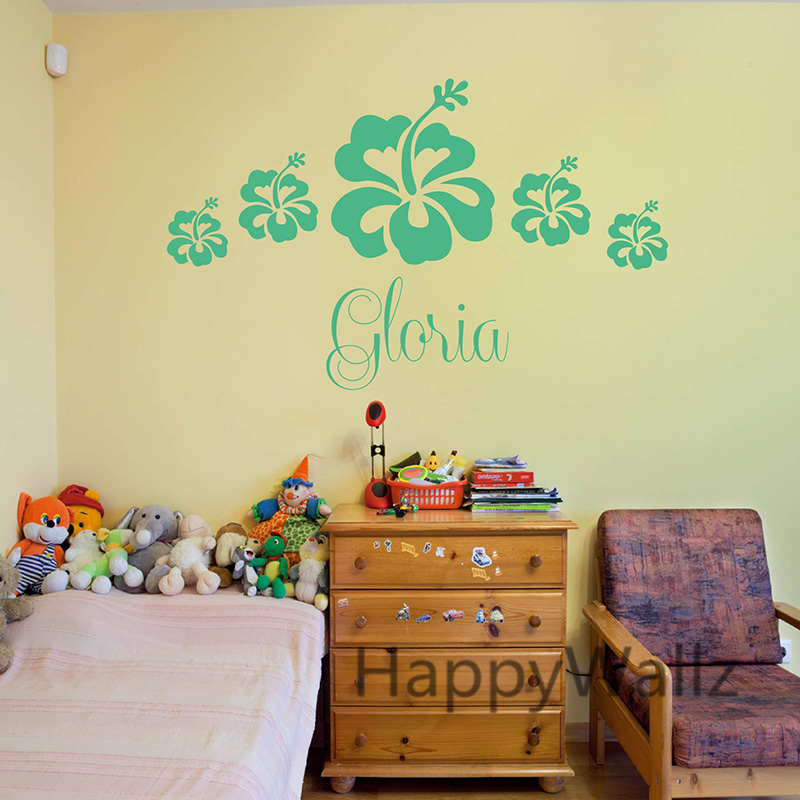 Aliexpress.com : Buy Custom Name Flower Wall Sticker DIY Girls Name ...