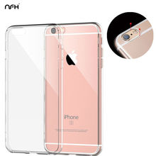 Transparent Soft TPU Celular For Apple iPhone 4 5 SE 6 6Plus 7 7Plus Slim Crystal Clear Silicone TPU Case On 4S 5S 6S Back Cover
