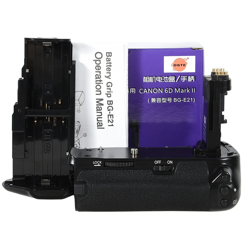 DSTE pro battery grip BG-E21 fits for CANON 6D Mark II Equipped with a vertical racquet handles the shutter button,main dial,etc