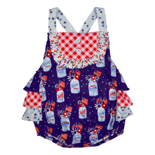 Summer Baby Sleeveless Boutique Romper CONICE NINI Cross back Girls Clothes Bubble rompers GPF903-510