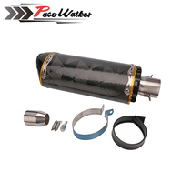 51mm Motorcycle Universal Carbon Fiber Yellow Series Exhaust Fit For YAMAHA R6