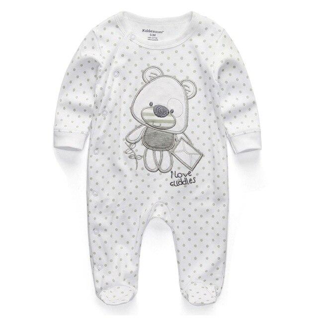 Детская Одежда 2017 Новый Новорожденный Мальчик Девушка Ползунки Одежда С Длинным Рукавом Младенческой Продукта