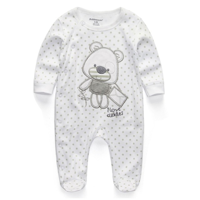 Newborn Baby Boy Girl Romper Clothes Long Sleeve Infant Product