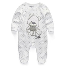 Baby Clothing 2018 New Newborn jumpsuits Baby Boy Girl Romper Clothes Long Sleeve Infant Product cheap Rompers Single Breasted Full RFL1021 kiddiezoom Unisex O-Neck Cartoon Cotton 100 cotton Fits smaller than usual Please check this store s sizing info