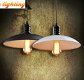 Free shipping Retro bedroom bar Chandelier lamp iron E27 black / white diameter 25CM AC110-240V