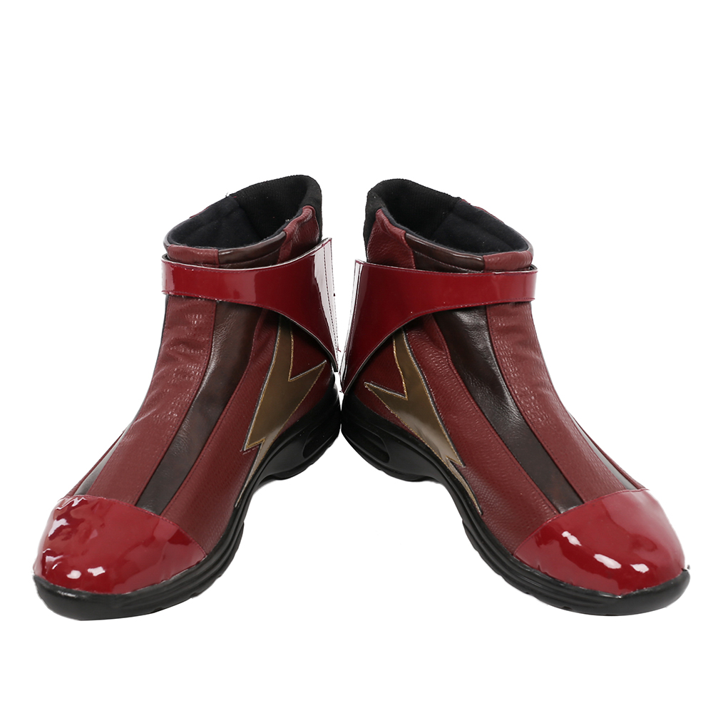 ManLuYunXiao new arrival cospaly Costume The Flash Justice League Roleplay men s font b boots b