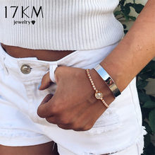 17KM Zirconia Round Infinity Tennis Bracelets For Women Fashion Bijoux Rose Gold Silver Bracelets & Bangles 2019 Wedding Jewelry(China)