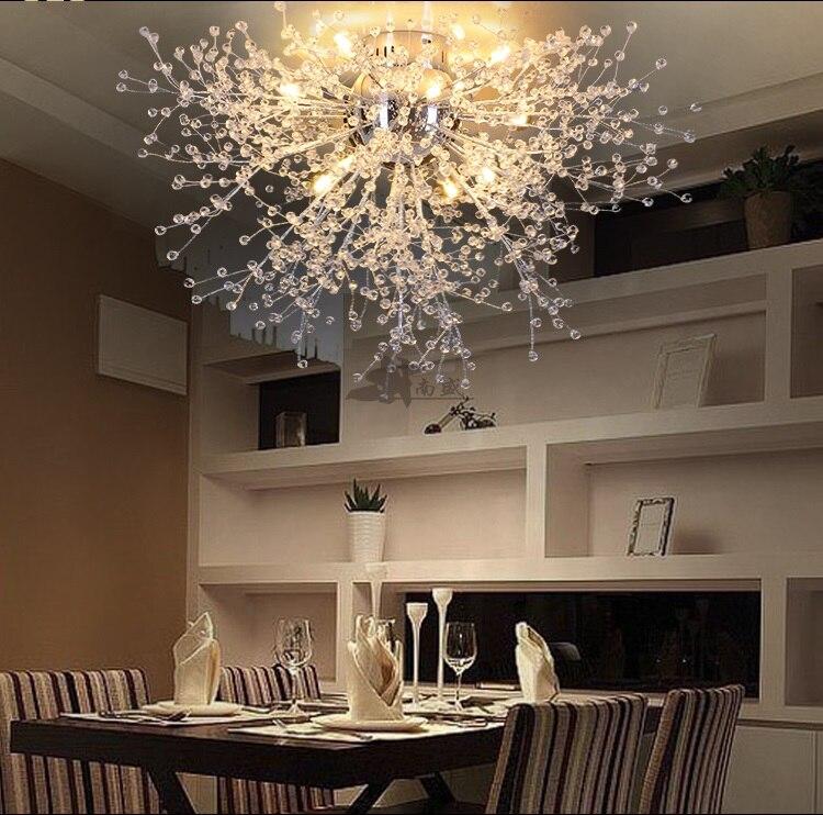 US $100.61 29% OFF|Modern Dandelion FÜHRTE Unterputz Deckenleuchte Klarem  Kristall Lampe für Küche Schlafzimmer Wohnzimmer Foyer Elegante Leuchte-in  ...