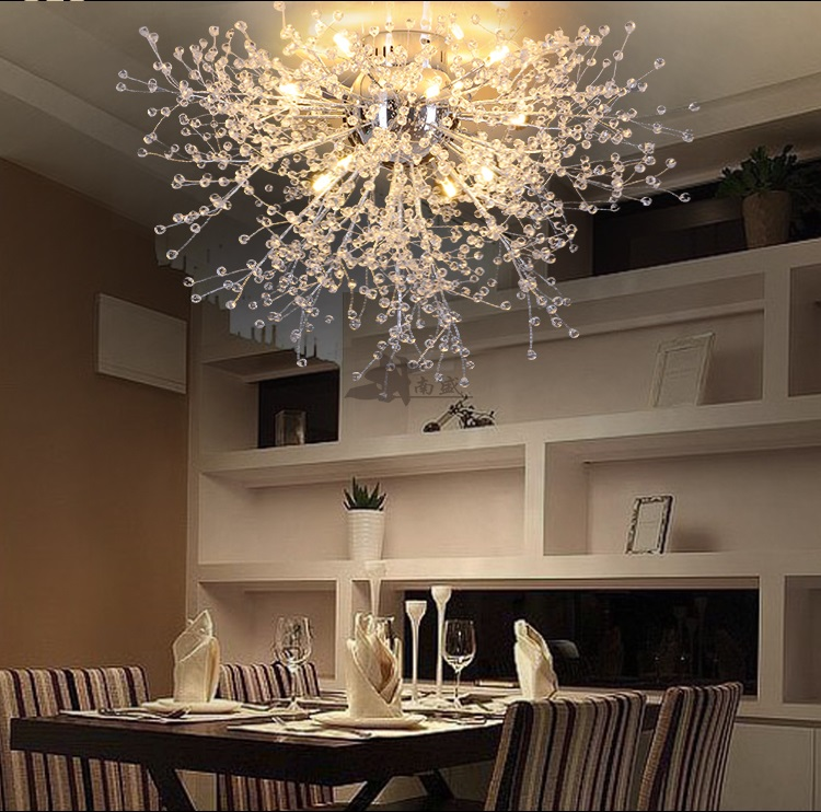 Modern Dandelion Led Flush Mount Ceiling Light Clear