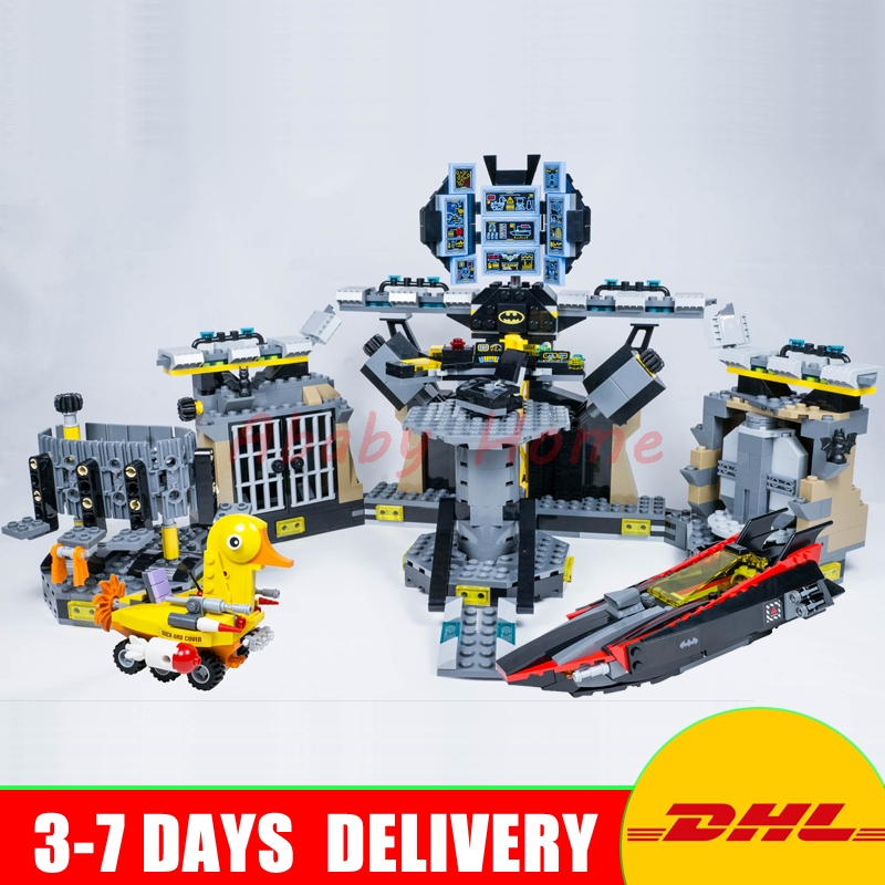 In Stock Lepin 07052 Batman Movie Batcave Break-in Man-Bat Bricks Set Educational Building Blocks Brick Toys Compatible 70909 in stock lepin 23015 485pcs science and technology education toys educational building blocks set classic pegasus toys gifts