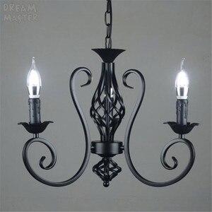 Image 4 - black vintage industrial pendant light nordic retro lights iron loft hanging lamp kitchen dining room Countryside home lighting