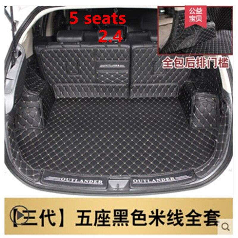 Mat mala do carro Para Mitsubishi Outlander 2013-2018 2.4 Acessórios Interiores Tapete estilo do carro Pé mat Tronco Forro De Carga