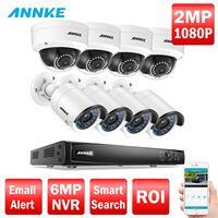 ANNKE Профессиональный 1080 P PoE камера безопасности Системы 8CH безопасность NVR с 4x2 Мп купольные камеры cctv, No HDD