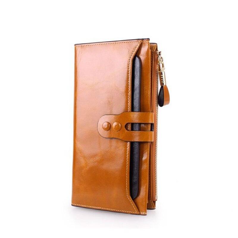 2019 Fashion Women RFID Wallets Genuine Leather High ...
