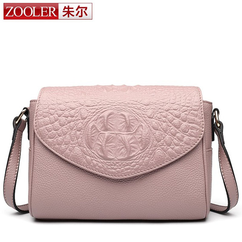ZOOLER 2017 New Occident Designers Fashion Crocodile Grain Genuine Leather Women Crossbody Bag Women Messenger Bag Shoulder Bag 2018 yuanyu 2016 new women crocodile bag women clutches leather bag female crocodile grain long hand bag