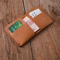 100% real leather men's handmade short calfskin Wallet cowhide wallet vintage style leather wallet
