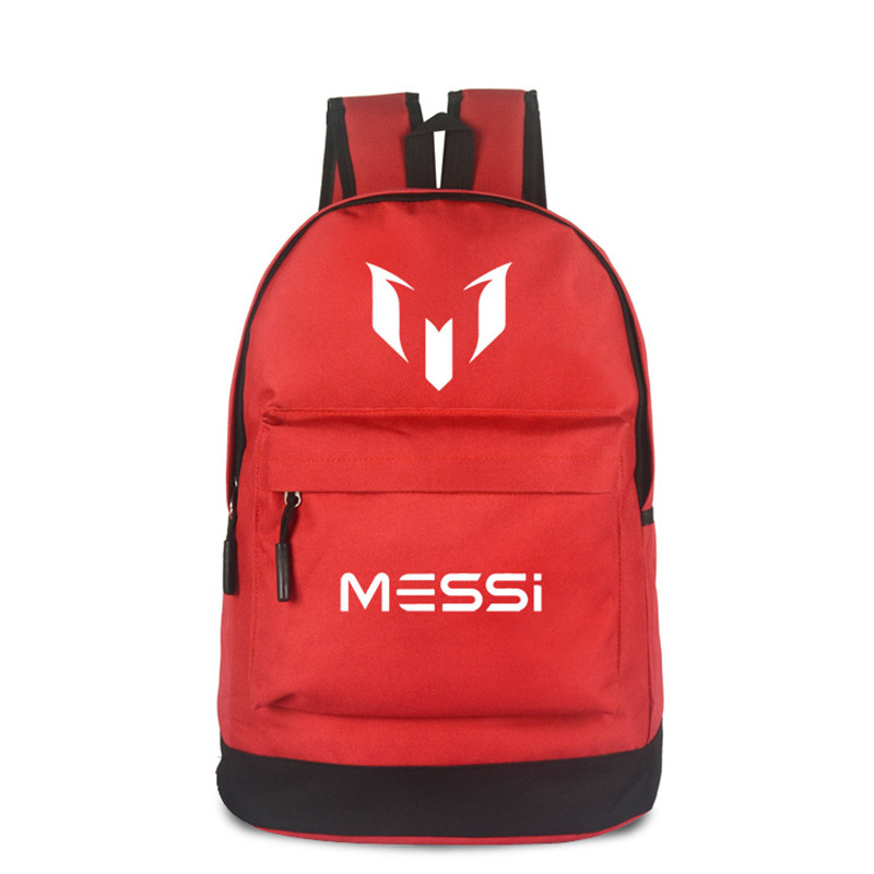Logo Messi Backpack Men Boys Travel Bag Teenagers School Bags Gift Kids Bagpack Mochila Bolsas Escolar Red & Black Color new 2017 women backpack painting school bags for teenagers girls stylish children bagpack ladies travel bag student kids mochila