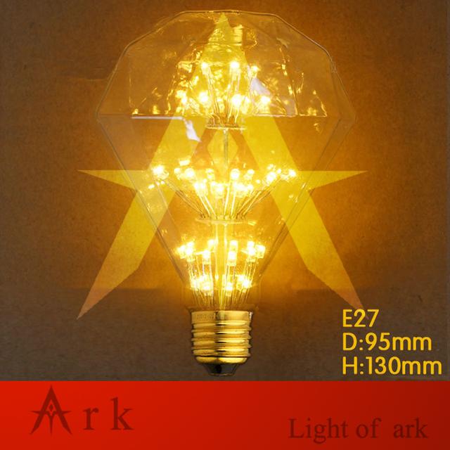 ARCA de LUZ NOVO estilo LED E27 Edison G95 Raro Diamante Fogos de Artifício Lâmpada 220 v Edison Gaiola Bulbo da lâmpada led de Luz-lâmpada moderna
