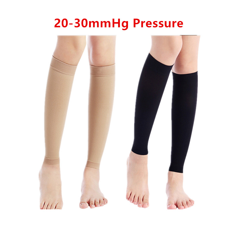 buy online pretty cheap lower price with US $21.0 |Medical Gradient Knee high 20 30mmHG Compression Stockings for  lower leg calf For Deep vein thrombosis Varicose veins-in Shin Guard from  ...