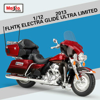 Maisto for Harley Flagship Gliding Motorcycle Simulation Model for FLHTK ELECTRA GLIDE ULTRA LIMITED Motocross Model Motor 1:12