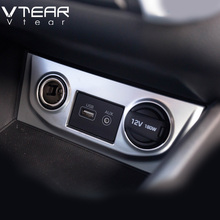 Creta Vtear Para Hyundai ix25 encendedor cubierta decoración cromo styling molduras interiores productos accesorios 2015-18