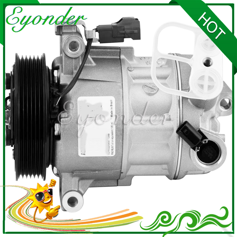 A/C AC Air Conditioning Compressor Cooling Pump Clutch 6PK PV6 for Fiat TORO 2.4 JEEP COMPASS 2.052094153 ACP 222