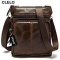 CLELO 2016 новое прибытие натуральная кожа мужские Сумки Посыльного сумки высокое качество горячей продажи простой и тонкий