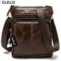 CLELO 2016 new arrival genuine leather mens Messenger Bags bag high quality hot sale simple and thin